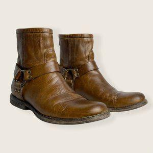 Frye Phillip Harness Boots Short Brown